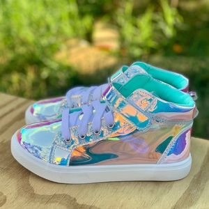 Wonder Nation Athletic Iridescent High-Top Sneaker